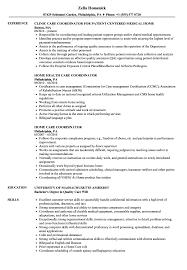 Liaison Nurse Home Care Sample Job Description Coordinator Resume