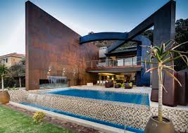 infinity pool house. Fine House Sculptural Steel Walls And Infinity Pool U201cHouse Theu201d By Nico Van Der  Meulen  Throughout Pool House
