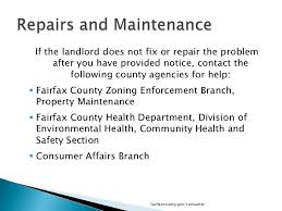 Notice To Tenant To Make Repairs What Tenants Need To Know In Fairfax County
