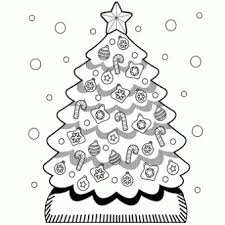 Christmas Tree Coloring Page Free Recipes