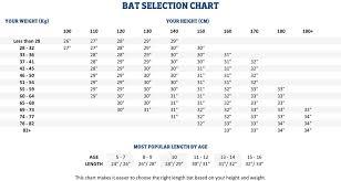 Softball Bat Size Chart 4 Www Brownwindow Com Bwc Size Charts Size Chart Cas Rev U
