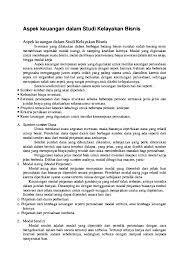 Doc Aspek Keuangan Dalam Studi Kelayakan Bisnis Sarip Star Academia Edu