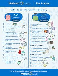 Baby Check List Hospital Bag Checklist For Mom And Baby Walmart Canada