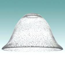 what is seeded glass chandelier globes clear bell shade lampshades table lamp base