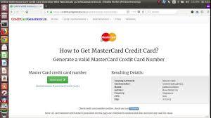 valid credit card generator and validator