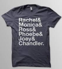 Ross Size Chart Friends Rachel Green Monica Geller Ross Geller By