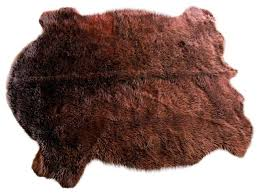 faux buffalo hide accent rug contemporary novelty rugs by fur accents