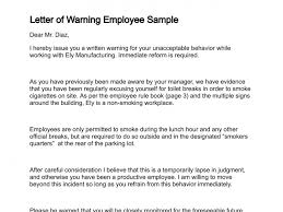 Letter Of Employment Sample Template Unique Warning Letter Employee Engneeuforicco