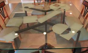 custom glass dining table top
