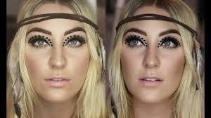 woodstock inspired coaca festival 2016 makeup tutorial glamnanne mikayla hawkinson