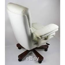 office chair genuine leather white. Genuine Leather White Executive Office Chair Extra Large Superb Qaulity O