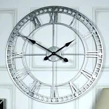large roman numeral wall clock clocks silver numerals skeleton metal