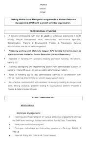 Director Of Human Resources Resume Human Resources Generalist Resume