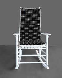 black white polka dot rocking chair cushion