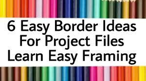 simple frame border design. Simple Border 6 Simple U0026 Easy Borders For Project Files And Frame Decoration  Border  Ideas Projects Framing  On Simple Frame Border Design