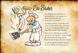 Die Bäcker Gedicht Lustig Blechschild Comic Beruf Beschriebung Bei