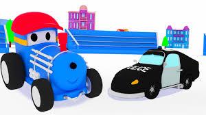 La Voiture De Police Et Ted Le Train Dessin Anim Ducatif Pour