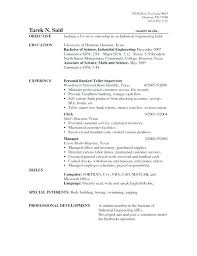 Personal Banker Resume Samples Best of Objective On A Resume Personal Banker Resume Objective Banking
