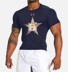 under armour astros. men\u0027s houston astros ua compression t-shirt, midnight navy under armour 0