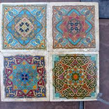 Decorative Tile Coasters Moroccan Travertine Coasters Stone Coasters Decorative 6