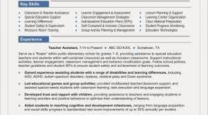 Teacher Aide Resume Examples Free Resume Examples