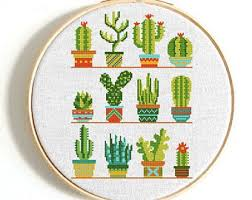 Modern Cross Stitch Patterns Classy Modern Cross Stitch Etsy