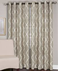 Macys Curtains For Living Room Elrene Linen Medalia 52 X 108 Panel Curtain Rods Sliding