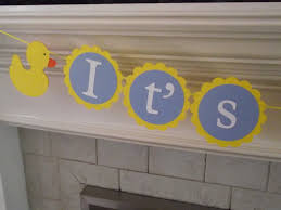 Baby Shower Banner Duck Baby Shower Supplies Rubber Ducky Its A Boy Baby Shower