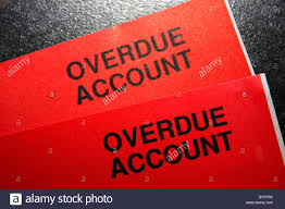 Overdue Account A Red Bill Showing An Overdue Account In Debt And In Urgent Need Of