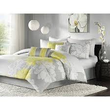 modern comforter sets yellow bedroom
