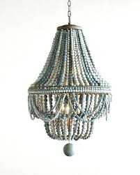 wood beaded chandelier beaded chandelier in shades of blue stained wood amelia indoor outdoor wood bead