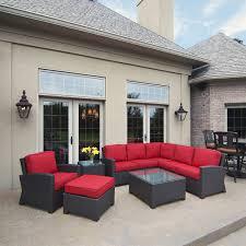 outdoor wicker patio furniture. Cabo Wicker Sectional Outdoor Patio Furniture L