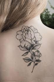 женская татуировка розы в стиле дотворк и графика Tattoodesign