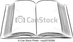 open book hand draw csp20702566