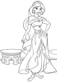 Princess Jasmine Coloring Pages Princess Coloring Pages Disney