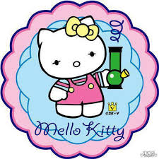 Mello Kitty Hello Kitty Spoof With Bong Weed memes - Weed Memes via Relatably.com