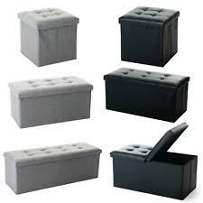 foldable storage ottoman