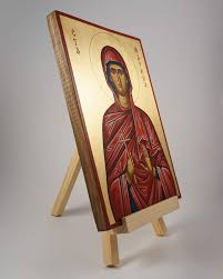 Wooden Light Stand Wooden Icon Stand Light Hand Painted Icon Blessedmart