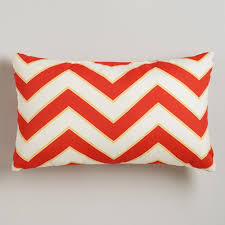 Warm Chevron Outdoor Lumbar Throw Pillow World Market
