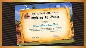Diplomas Para Imprimir Crear Y Descargar Diploma Youtube