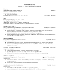 Sample Resume College Sample Resumes College Of Engineering And Computing