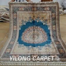 luxury blue medallion rug for handmade carpet fl blue medallion hand knotted fine rugs 12 blue