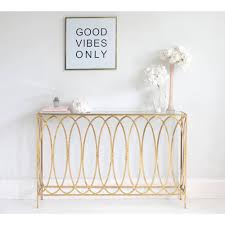 Slim Gold Console Table