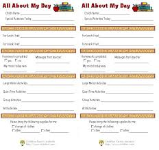 baby daily report sheet infant daily report form daycare forms templates inspirational child