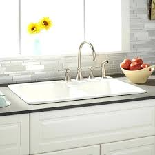 white kitchen sink with drainboard. White Kitchen Sink Double Bowl Cast Iron Drop In With Drainboard