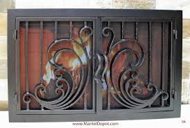 fireplace mantels surrounds iron doors