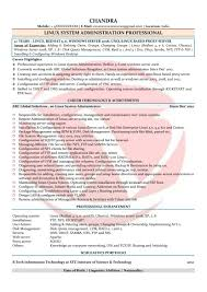 Unique Linux Admin Sample Resumes Download Resume Format Templates