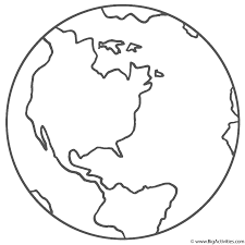 View and print full size. Planet Earth Coloring Page Space
