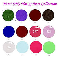 Opi Dip Powder Color Chart Sns Nail Dipping Powder Gelous Color 12 New Colors Springs