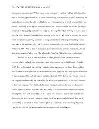 First Draft Rhetorical Analysis Essay